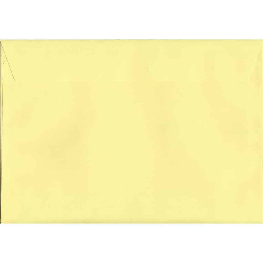 Colour Envelope Tri-Fold A4 Sunlight Yellow 114mm x 229mm Peel//Seal 120gsm DL+