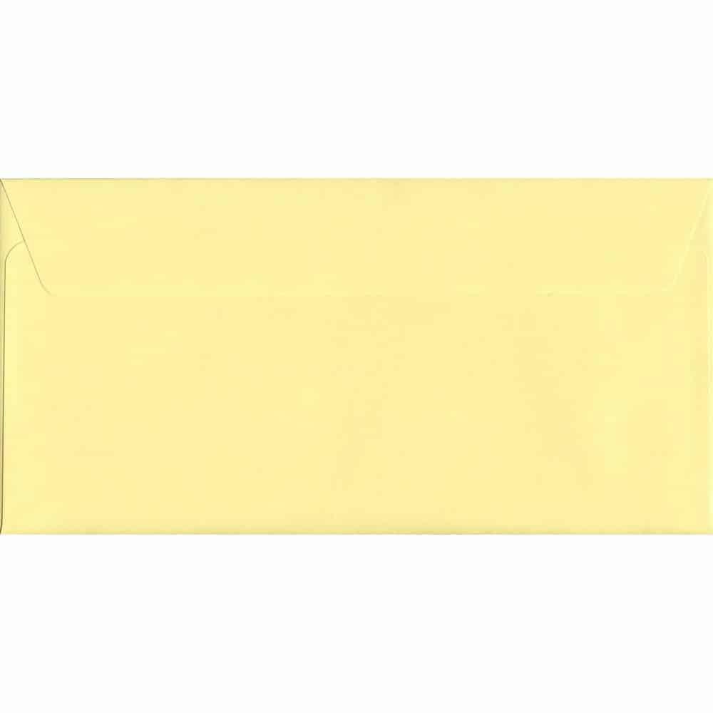 Colour Envelopes Lime Green 114mm x 229mm Peel//Seal 120gsm DL+ Tri-Fold A4