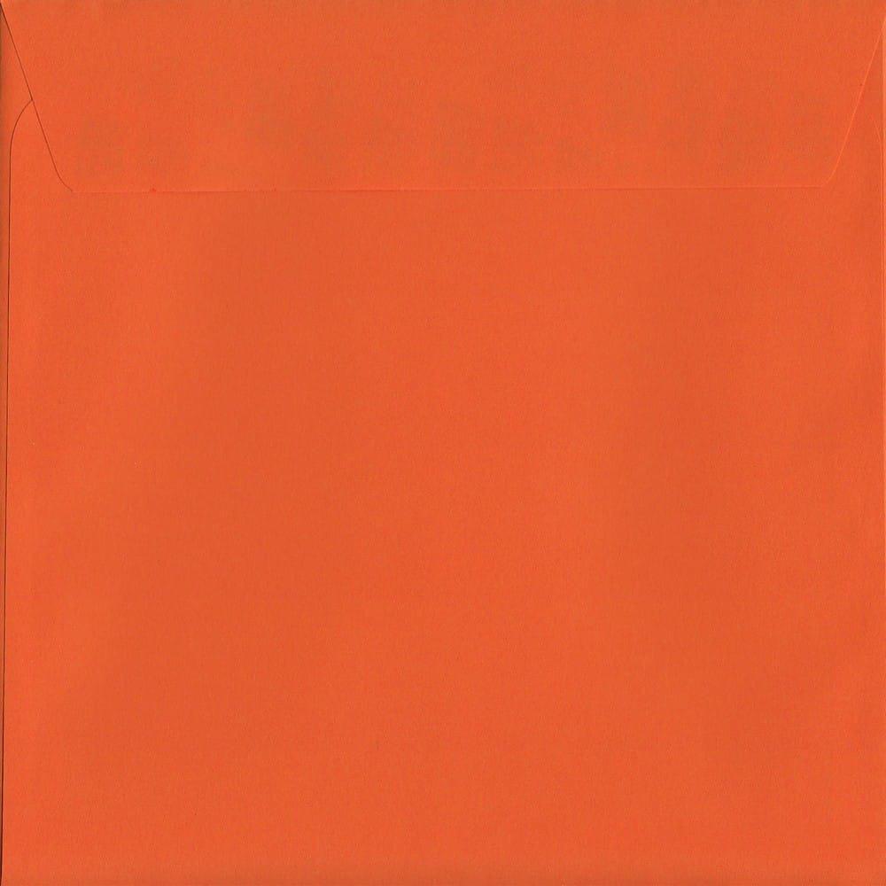 "25 x 6/"" Square Halloween Orange Card Blanks with Black Envelopes"